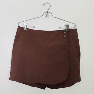 Eddie Bauer 100% Nylon Skort Shorts Wrap Skirt